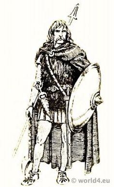 Costume Merovingian Frankish Noble warrior 4th century.