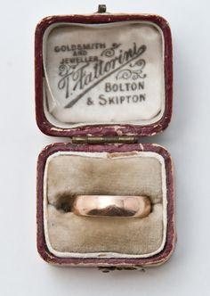 Victorian English Rose Gold Band