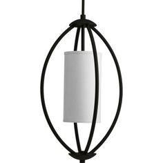 Progress Lighting Calven Collection 2-Light Forged Black Foyer Pendant-P3937-80 - The Home Depot