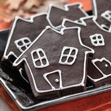 Who says a haunted house can't be yummy as well as scary? Use your favorite cutter to make these delicious chocolate Halloween cookies.