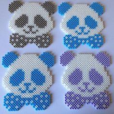 Pandas hama beads by pysslomanen