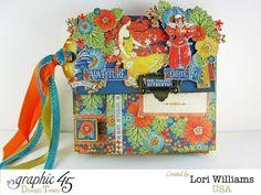Graphic 45 Mini Book_World's Fair collection_ designed by Lori Williams