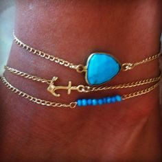 Ankle Party- BELLA BEACH JEWELS Turquoise Anklets