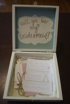 Will you be my bridesmaid? {fun boxes I made to ask my bridesmaids!}