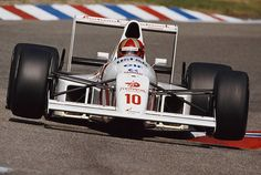 Alessandro Alex Caffi of Italy drives the Footwork Arrows Racing Arrows A11B Cosworth V8 during practice for the Mobil 1 German Grand Prix on 28 July...