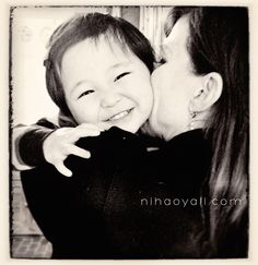 """""""Adoption confounds that thing that comes so naturally between mothers and children: love. Love takes time. And patience. And lots and lots of grace. From both ends. Daily.  And love isn't always guaranteed.  So when love descends, it is especially sweet."""" From Stephanie at nihaoyall.com"""