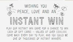 Paypal Instant Win Game