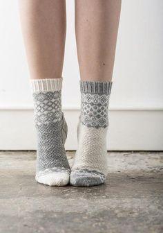 Knitting Patterns Socks Ravelry: Alfrick pattern by Rachel Coopey Crochet Socks, Knitting Socks, Fair Isle Knitting, Baby Knitting, Knit Crochet, Knitted Slippers, Crochet Granny, Free Knitting, Knitting Machine