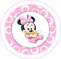 Minnie Primer Año: Kit en Rosa para Imprimir Gratis.