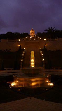 Persian Bahai simetric gardens at Haifa, Israel