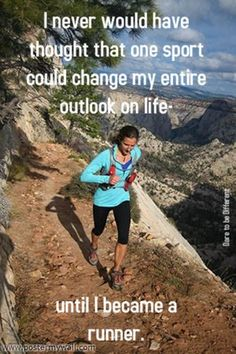 This could not be more true for me, except I was a runner, gave it up and then found it again!