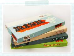 board games - packaging designed by Sam Kittinger