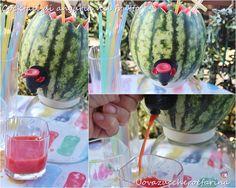 cocktail di anguria nel frutto