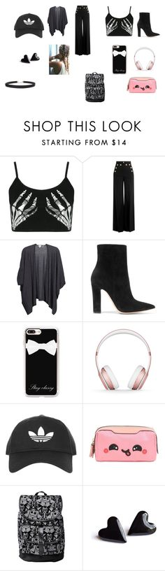 """""""SCHOOL"""" by queenari on Polyvore featuring Boohoo, RED Valentino, Kinross, Gianvito Rossi, Casetify, Beats by Dr. Dre, Topshop, Anya Hindmarch, Disney and Humble Chic"""