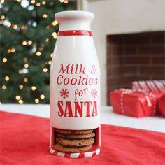 Santa's Milk and Cookies Milk Bottle