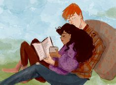 Hilly Minne Art — Romione sketch for patron on My patreon... Harry Potter Ships, Harry Potter Anime, Harry Potter Universal, Harry Potter Fandom, Weasley Twins, Ron Weasley, Harry Potter Collection, Harry Potter Pictures, Avatar Couple