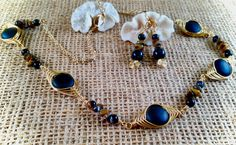 Eye of the tiger set by JewelryOohShiny on Etsy
