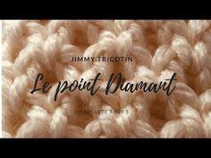 """Leçon 30: Comment réaliser le point """"Diamant"""" au tricotin circulaire - YouTube"""