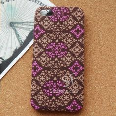 Purple Check Case for iPhone 5 with Hard Back Cover - slickfans.com