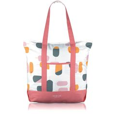 The Lollipops large tote bag will set you up perfectly for high days and holidays. Very spacious, this canvas tote boasts plenty of room for all your beach essentials, and works well as a weekend bag, too. Featuring shoulder straps, a zip-top fastening and an interior zipped compartment, ideal for keeping your keys, phone or wallet secure.  Our Lollipops collection couldn't be sweeter. Modern prints of lollipops in pretty hues will add a taste of summer to your outfits, whatever the weather.