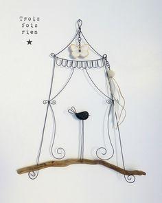 Piou N°438, fil de fer, trois fois rien, wire, wire art