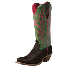 Twisted X Women's Lime/Pink Hooey Boots. Twisted X is proud to offer our Hooey Footwear Collection. Hooey is a young, dynamic brand that has come on the scene bigger than Dallas. Everyone from kiddos to moms and grandpas dig the Hooey logo and look. Our Hooey styles are as cowboy...
