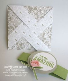 Pinwheel Fun Fold card. need to use lt wt double-sided paper
