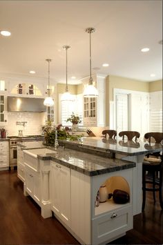 White Traditional Kitchen by Peppertree Kitchen and Bath