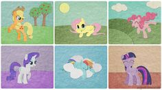 Soft Wallpaper by VeryGood91, Mane six