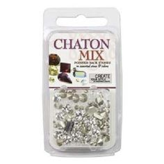 4.5 Grams Swarovski® Chaton Mix - Crystal:  Item: SW00523 Price: $14.89 Sold by the package.