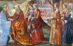 DOMENICO GHIRLANDAIO (1449 - 1494) Visitation - 1486/90. Fresco | Cappella Tornabuoni, Santa Maria Novella, Florence.