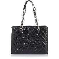Chanel Veau Ver Large Tote