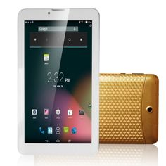 Haehne 7 Inch Android 4.2 Google 3G Tablet PC, 2G GSM + 3G WCDMA Mobile Cellphone Phablet Dual Core Cameras Bluetooth GPS Capacitive TFT LCD Touch Screen WiFi 4GB, Gold. This is a wonderful Tablet PC with a great cost performance. This tablet features functions of 2G + 3G communication module (Dual SIM Card Dual Standby), Bluetooth, and GPS navigation. It has a 7-inch 800x480 pixels capacitive 5-point touch screen. It supports WiFi and external 3G networks for surfing internet. It uses…