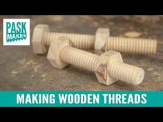 Make wood screw yourself in 3 minutes - Holzgewinde selber machen in 3 Minuten. - YouTube