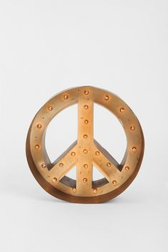Peace Sign Light.  I'd want this on my door--honestly.
