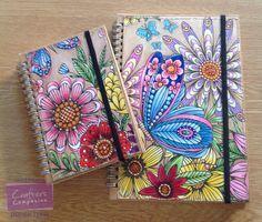 Note books made using Spectrum Noir Colorista Marker Pad, Spectrum Noir Markers and Spectrum Noir ColourBlend pencils. Designed by Laney Delaney. #crafterscompanion #spectrumnoir #colorista