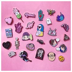 I spend too much money on pins! This is some of my collection featuring @punkypins @finestimaginary @oh.caroool @_pinclub and many more! Makers are all tagged