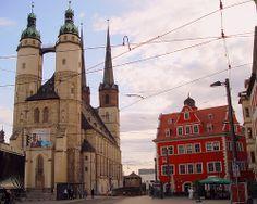 Halle/Saale - Marktkirche and Marktschloesschen