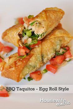 BBQ Taquitos - Egg Roll Style