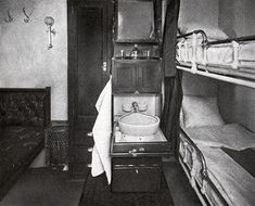 Photograph First Cabin Stateroom on a steamship of the Baltic-America Line Pullman Train, Train Car, Ghost Stories, Photo Reference, Old Pictures, 1920s, 19th Century, Cruise, America