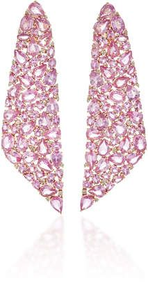 Pink Sapphire Mosaic Earrings by Sutra Pink Fashion, Fashion Looks, Luxury Beauty, Marchesa, Pink Sapphire, Pastel Pink, Floral Tie, Latest Trends, Mosaic