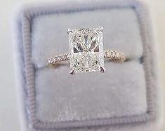Vintage engagement ring Oval Moissanite engagement ring 14K | Etsy