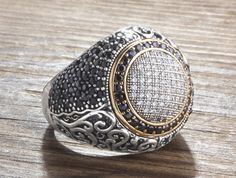 925 Silver Man Ring with Onyx Size 10-11-12 Men's Handmade Gemstone Jewelry #IstanbulJewellery #Statement
