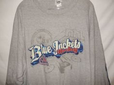 NHL Hockey Girls Boys Kids Columbus Blue Jackets Vintage Mesh Jersey Blue