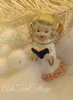 Ash Tree Cottage ~ vintage caroling angel