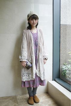 Mori girl - girl who lives in the woods look ♡。 ∴ 。Glitter Puffs ☆✿⊹⊱: ALL JAPANESE FASHION STYLES~*