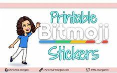 Printable Bitmoji Stickers Bitmoji Stickers, Printable Stickers, Little Bit Of Love, Student Work, Printables, Print Templates