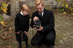 Benedict Cumberbatch with Rolleiflex 3.5F and Misha Handley in Parade's End. } Shooting Film: Interesting Portraits of Celebrities with Rolleiflex TLR Cameras