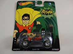 HOT WHEELS BATMAN ROBIN FORD F-150. CLASSIC TV SERIES. REAL RIDERS. #Ford #Ford