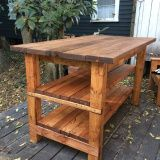 Hand-Built Rustic Kitchen Island